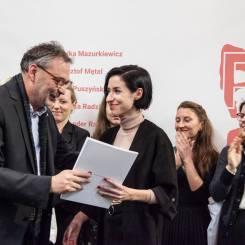 Nagroda 38. edycji konkursu im. Marii Dokowicz, dla Marty Wiktorowicz za film PARADISE MALL.
